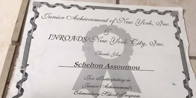 Inroads Program Mentorship Recognition 1997
