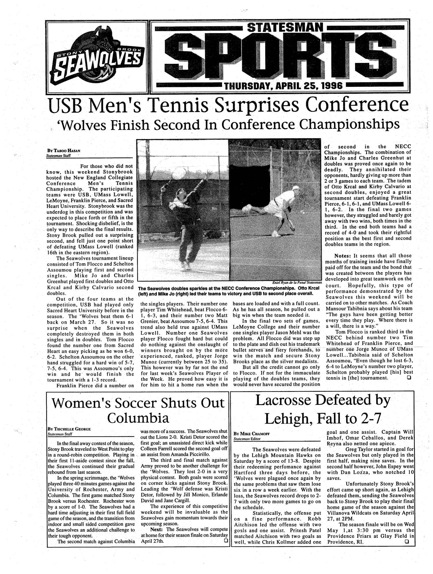 USB Men's Tennis Surprises Conference 'Wolves Finish Second In Conference Championships